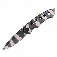 Нож MIL-TEC Camo One Hand Knife With Clip