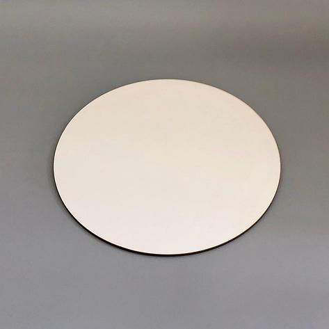 Посилена підложка під торт ∅-350 мм, біла - ДВП 3 мм, фото 2