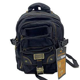 Джинсовий підлітковий рюкзак Gold Be 25 x 36 x 17 см Чорний (BH034/1)