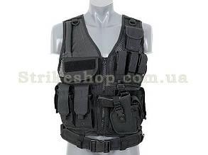 Розвантажувальний жилет Tactical chest 8FIELDS BLACK