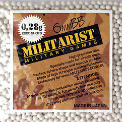 Кулі MILITARIST 0,28g - 2000 SZT.