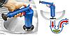 Пневматичний вантуз, очищувач каналізації високого тиску Toilet dredge GUN BLUE, фото 3