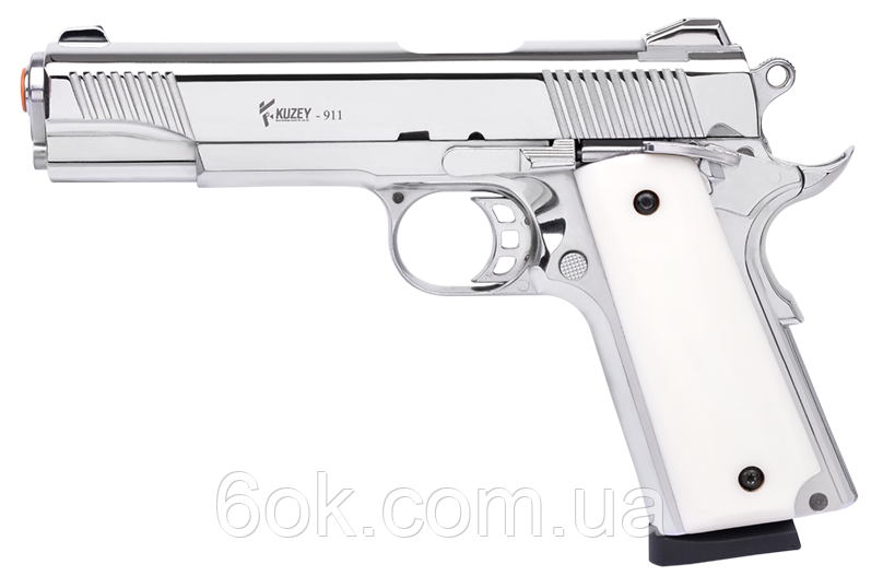 Сигнальный пистолет Kuzey 911  хром + доп магазин