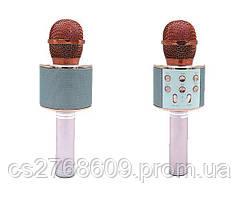 Караоке мікрофон WS-858 (Pink-gold)