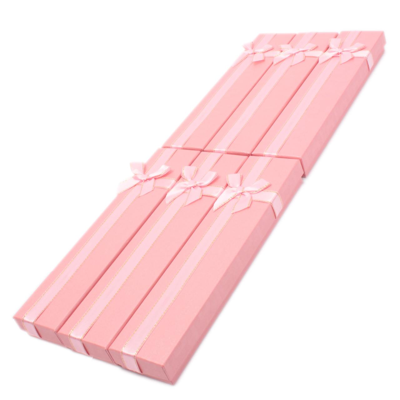"""Коробочка под браслет """"Геометрия с бантом"""" Розовый"""