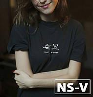 Женская футболка с принтом Fast Food