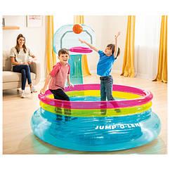 Детский надувной бассейн с баскетбольным кольцом Intex 48265