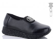 Туфли кожаные женские черные Jiulai-Kadisalun-276-7