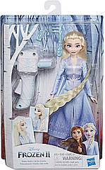 Кукла Эльза Холодное сердце 2 Дисней с аксессуарами для волос Disney Frozen 2  Sister Styles Elsa