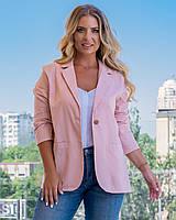 Піджак жіночий кольору пудри, фото 1