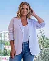 Пиджак женский белого цвета, фото 1