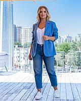 Пиджак женский голубого цвета, фото 1