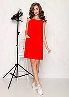 Сарафан летний красного   цвета, фото 1