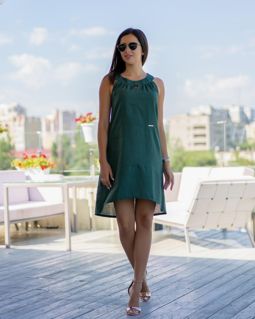 Сарафан літній кольору хакі ботал від YuLiYa Сһимасһепко