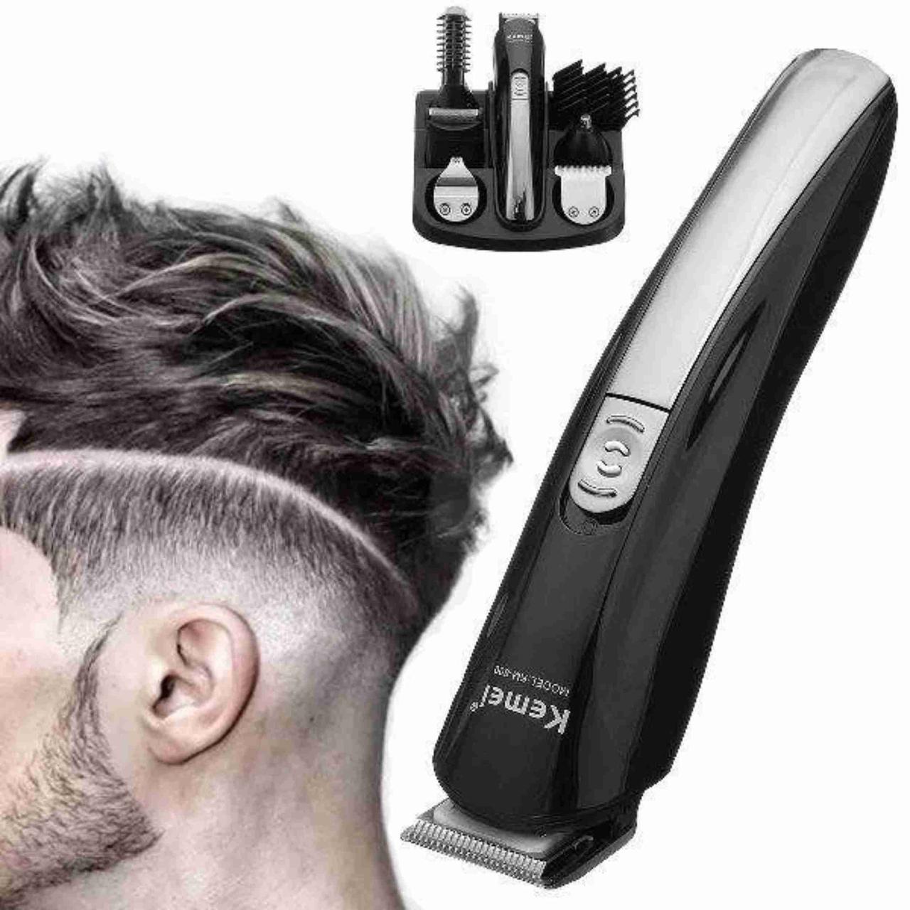 Машинка для стрижки волос Kemei KM-600 Машинка триммер для стрижки волос KEMEI KM-600 (11 В 1 + Подставка)