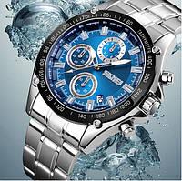 Часы наручные мужские женские кварцевые Skmei 1393 Silver-Blue 1080-0571