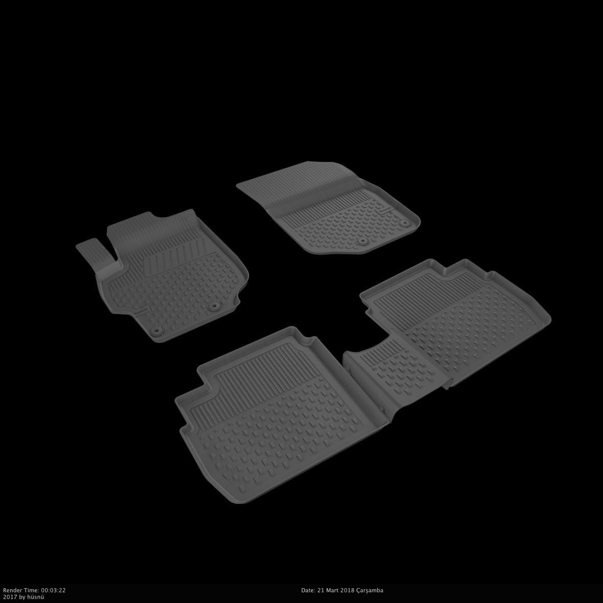 Автомобильные коврики в салон SAHLER 4D для CITROEN C-ELYSEE  2012-2020  CI-02