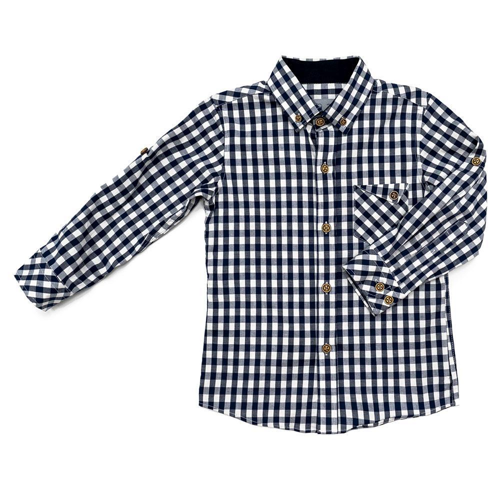 Рубашка для мальчиков Tommy life 104  сине-белая 10315