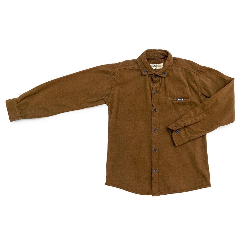 Рубашка для мальчиков Musti 122  коричневая 9025
