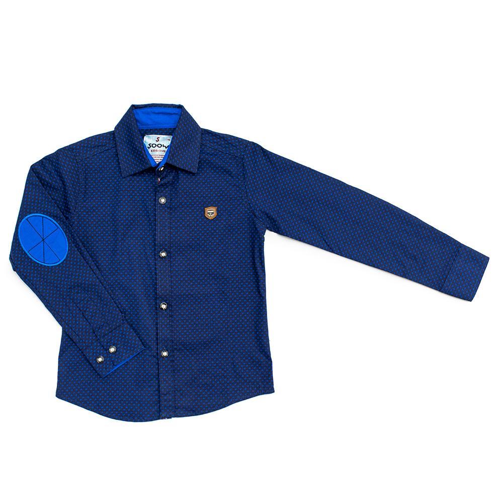 Рубашка для мальчиков Soow 116  синяя 6478