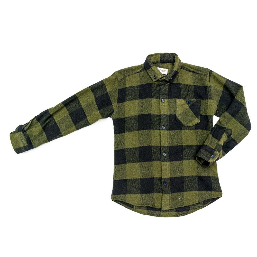 Рубашка для мальчиков Musti 116  хаки 9120