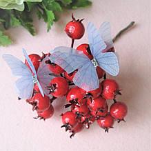 Бабочки из шифона. Темно голубая (сизая).