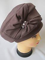 Женские шапки с бантом из ткани., фото 1