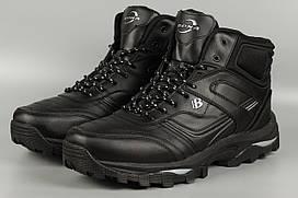 Ботинки мужские черные Bona 760C-8 Бона великаны баталы Размеры 47 48 49 50