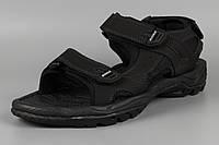 Сандалии босоножки мужские кожаные на липучке черные великаны Bona 775D-4 Бона Размеры 47 48, фото 1