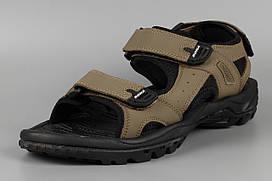 Сандалии босоножки мужские кожаные на липучке хаки великаны Bona 775T-4 Бона Размеры 47 48