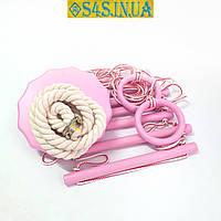 Детский набор для шведской стенки «ЭЛИТ» с тарзанкой, роза