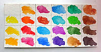 Краски акварель художественная Сонет 24 цветов, 2,5 мл., кюветы, к/к ЗХК код: 350814, арт.зав.: 3541139, фото 3