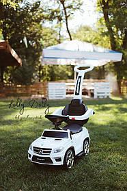 Каталка-толокар Mercedes M 3186L с кожаным сиденьем, МП3 и аккумуляторной батареей, Белый
