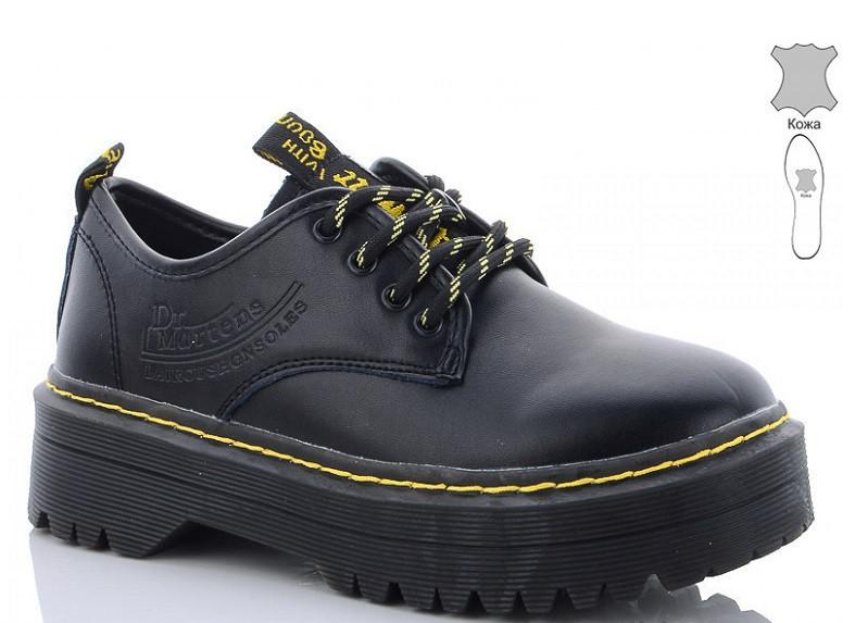Туфли кожаные женские черные Jiulai-Kadisalun-278-7