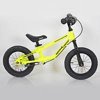 Дитячий беговел 12 дюймів (BRN)B-2 Yellow Air wheels, фото 1