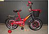 Детский двухколесный велосипед  MUSTANG Тачки с корзиной 18 дюймов красный