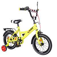 Велосипед двухколесный Tilly Explorer 14 дюймов T-214110 желтый