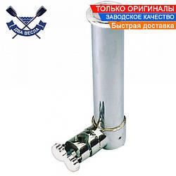 Релинговый держатель удочки для удилища или спиннинга 265х42 мм на трубу 20 / 28 мм, нержавейка, Италия