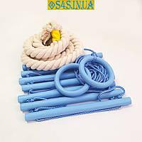 Детский верёвочный набор для шведской стенки набор подвесной «ЭЛИТ», лазурь