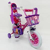 Детский двухколесный велосипед 12 дюймов  для девочки BEAUTY-2 19ВВ02-12