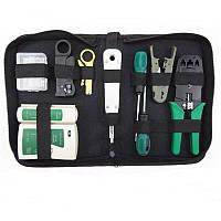 Профессиональный набор инструментов для монтажа витой пары, прокладки и обслуживания сети MHZ R11, 8 инструментов