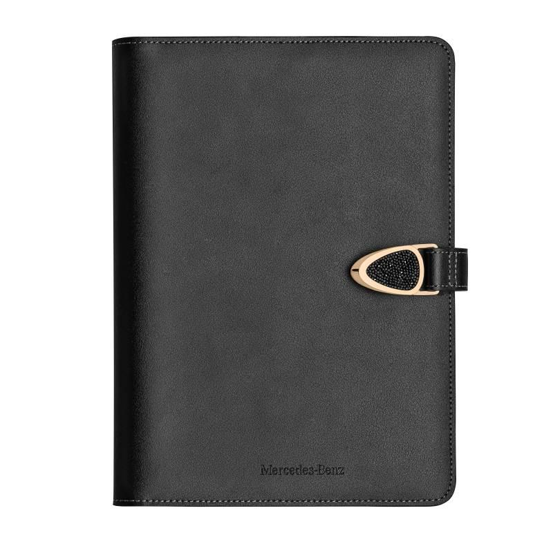 Блокнот Mercedes-Benz Notebook, Crystal, Black / Pink gold Swarovski, артикул B66953602