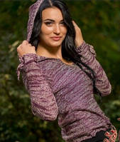 Кофта люрексовая  женская Капюшон