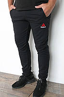 Спортивные мужские штаны  с манжетом черные размер 46,48,50,52