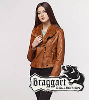 Braggart Youth | Осенне-весенняя женская куртка 25582 коричневая