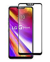 Защитное стекло Full screen PowerPlant для LG G7 ThinQ, Black