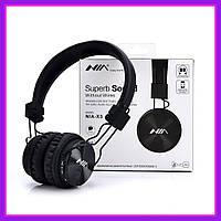 Беспроводные наушники Nia X3 Bluetooth + Mp3 плеер и Fm радио Black