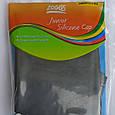 Шапочка для плавання дитячий/підлітковий Zoggs Junior Silicone Cap чорна, фото 2