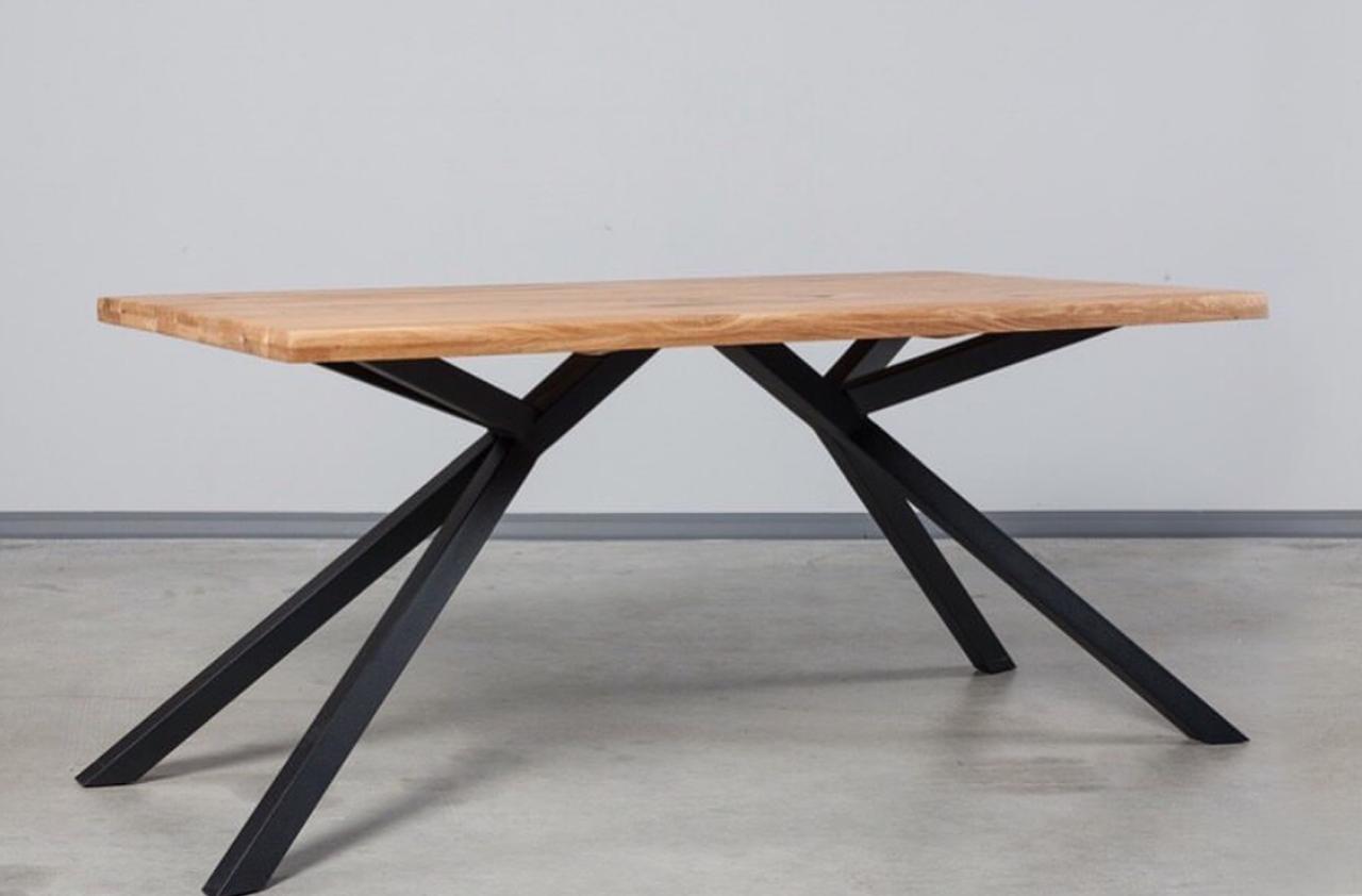 Подстолье двойное для стола из металла.