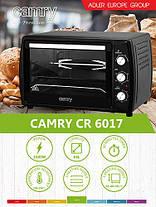 Электропечь печь настольная - духовка 63 л Camry CR 6017 Польша!, фото 2